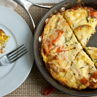 Sweet Potato and Caramelized Onion Frittata.