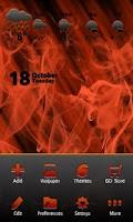 Screenshot of Smoke and Fire Go Launcher EX