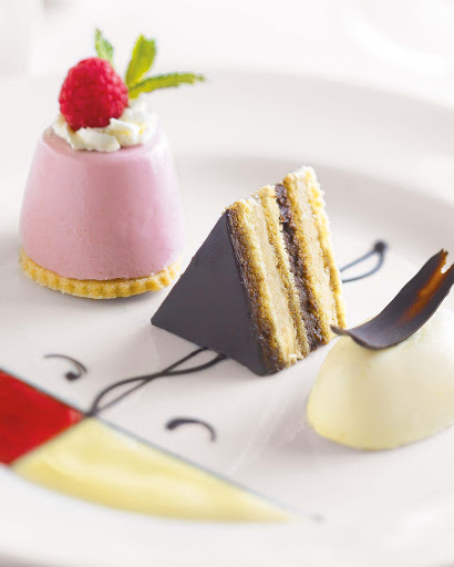 Menage-a-Trois-dessert - Try the Ménage à Trois dessert — a raspberry chocolate dish of delicious decadence — on your Princess cruise.