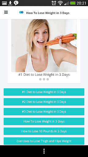 How To Lose Weight in 3 Days