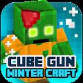 Cube Gun 3D : Winter Craft 1.0 icon