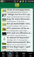 Screenshot of Hammarby Fotboll