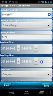 Mileage Tracker - screenshot thumbnail