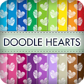 Doodle Hearts Wallpapers