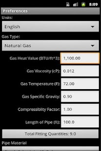 HVAC Pipe Sizer - Gas High- screenshot thumbnail