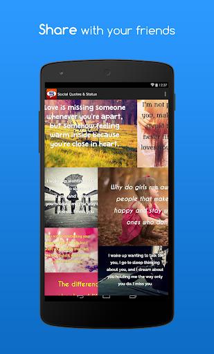 【免費社交App】Social Quotes & Status-APP點子