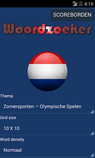 Woordzoeker nederlands
