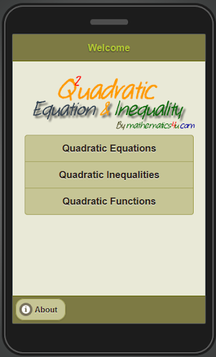 Quadratic Equation Inequality