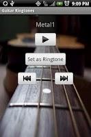 Screenshot of GUITAR Ringtones