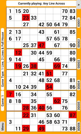 Bingo Tickets 90