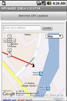 Screenshot of GPS QIBLA LOCATOR