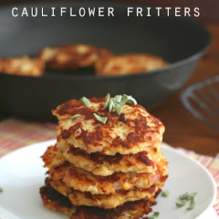 Ham & Cheese Cauliflower Fritters