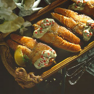 Salmon With Lemon-dill Sauce.