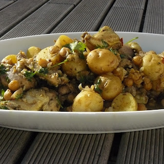 Trinidadian Curry Chicken with Chick Peas and Potatoes