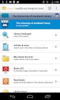 Screenshot of AucklandUni