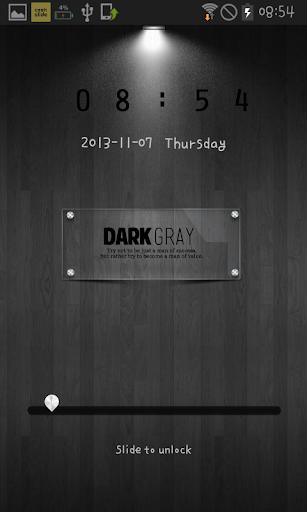 dark gray GO locker theme