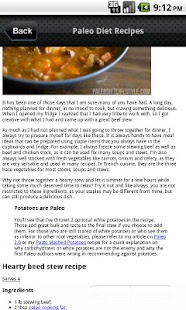 Paleo Diet Recipes - screenshot thumbnail