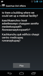 Quechua Civil Affairs Phrases- screenshot thumbnail
