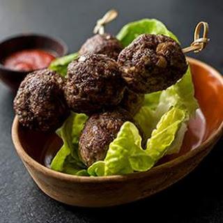 Asian Beef Meatballs.