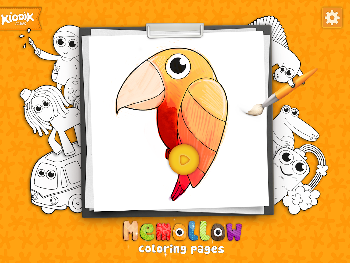Coloring Pages Memollow- screenshot