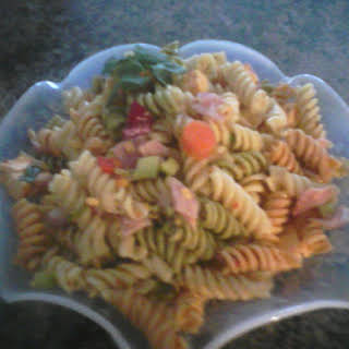 Pasta Salad with Ham, and Cheese.