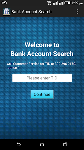 Bank Account Search