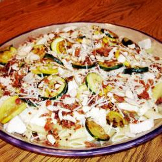 Summer Squash Alfredo Chicken