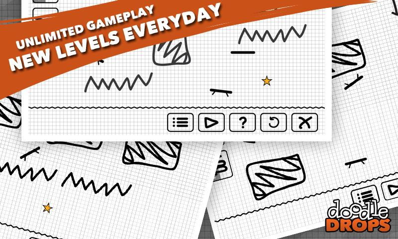 Doodle Drops : Physics Puzzler - screenshot