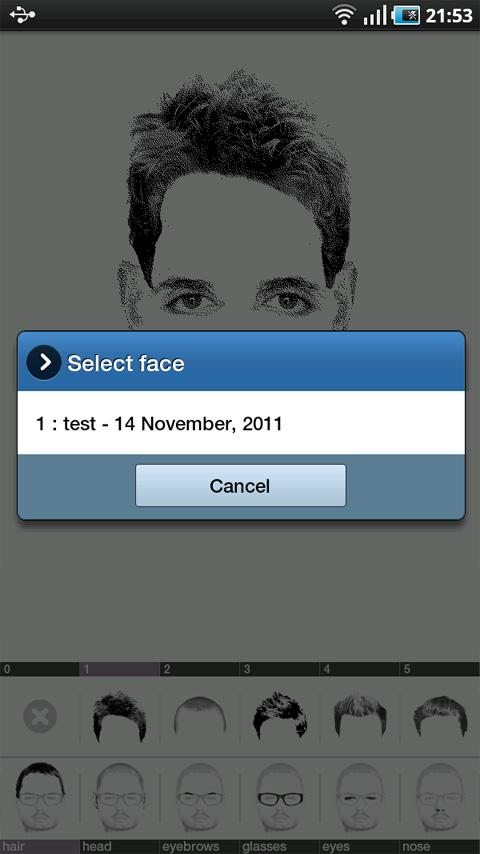 FlashFace Free police tool- screenshot