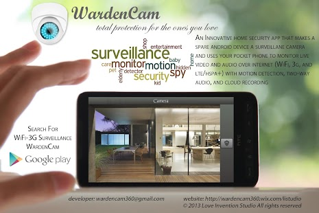 Home Security IP Cam WardenCam- screenshot thumbnail