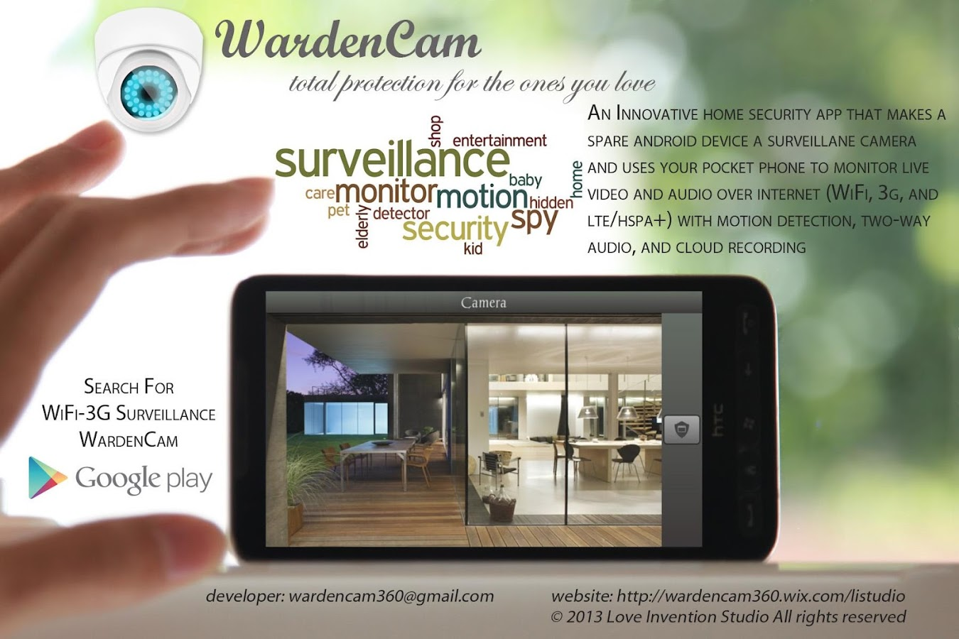Smart Home Security WardenCam - screenshot
