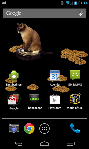 Cleaner Cat Live Wallpaper