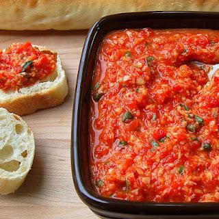 10 Minute Roasted Red Pepper & Artichoke Dip