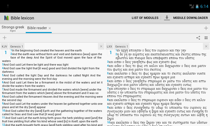 Bible lexicon - screenshot