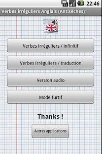 Verbes Irréguliers Anglais - screenshot thumbnail