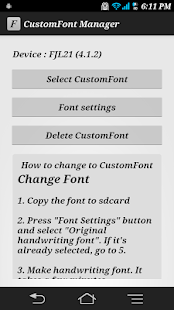CustomFont Manager- screenshot thumbnail