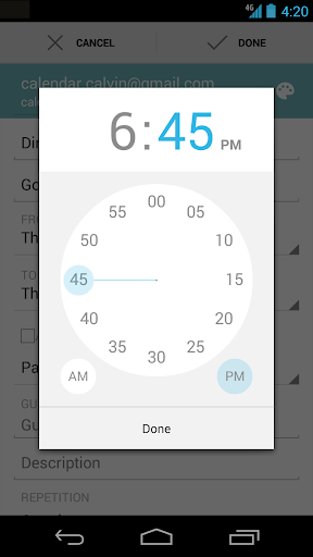 Google Calendar for Android updated with custom calendar colours and
