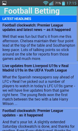 Football Betting Updates