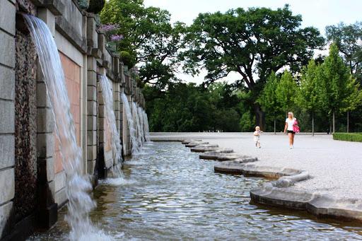 fountain-Drottningholm-Stockholm-Sweden - A fountain at Drottningholm in Stockholm, Sweden.