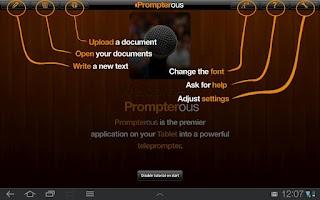 Screenshot of Prompterous