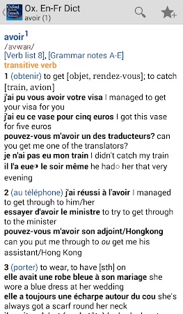 Oxford French Dictionary TR 4.3.136 screenshot 75251
