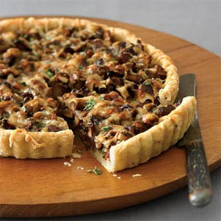 Leek and Chanterelle Tart.