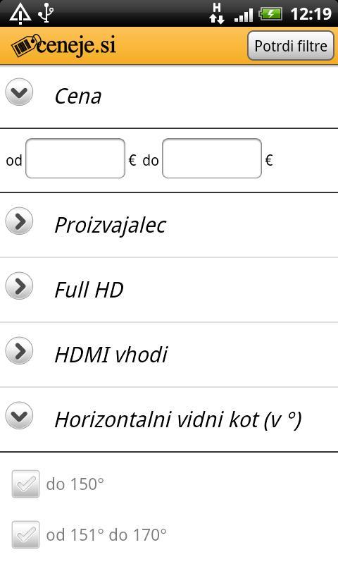 Ceneje.si - screenshot