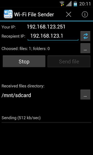Download WiFi File Sender Android Apps APK - 3919489 | mobile9