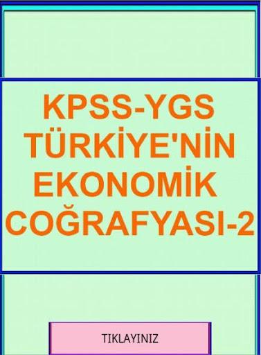 KPSS YGS COĞRAFYA TR. EK. CO-2