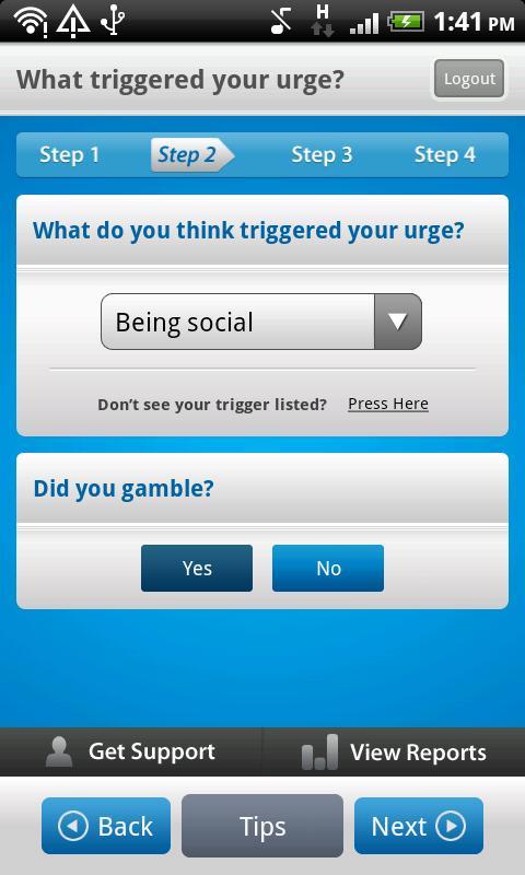 Monitor Your Gambling & Urges- screenshot