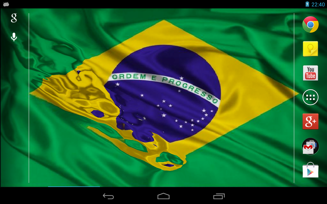 Flag of Brazil (wave effect) - screenshot