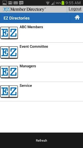 EZ Member Directory App Screenshot