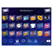 Emoji Keyboard+ Night Star