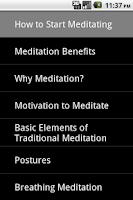 Screenshot of How to Start Meditating